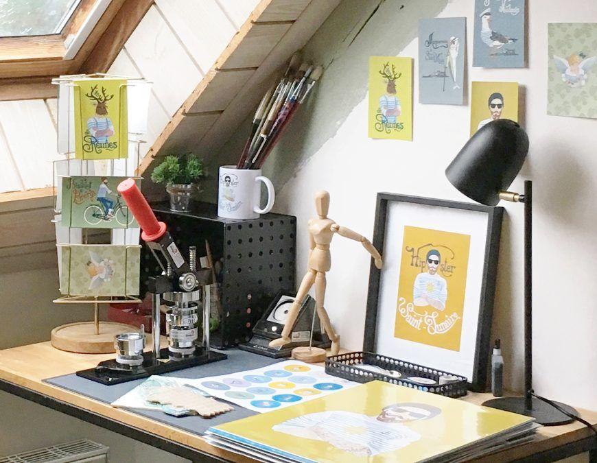 Dans mon atelier à Saint-Lunaire