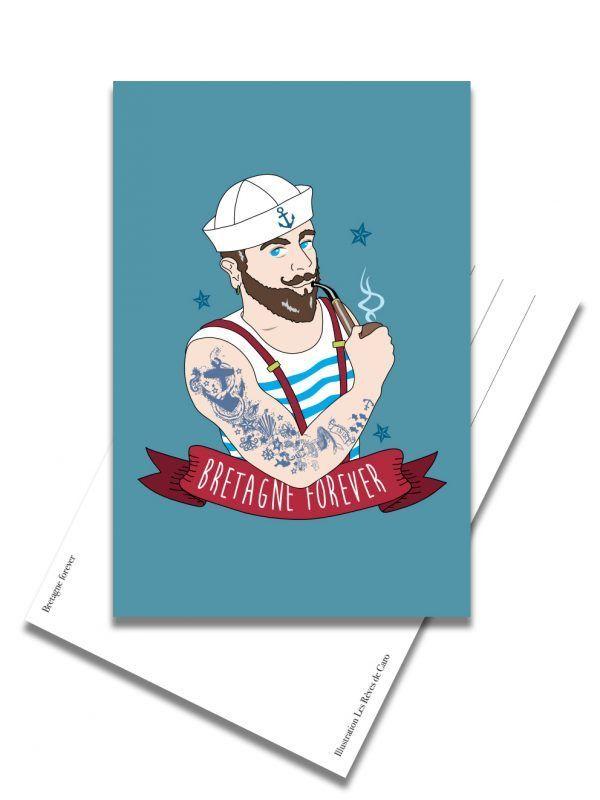 carte-postale-bretagne-forever-marin-les-reves-de-caro