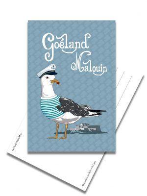 carte-postale-goeland-saint-malo-les-reves-de-caro