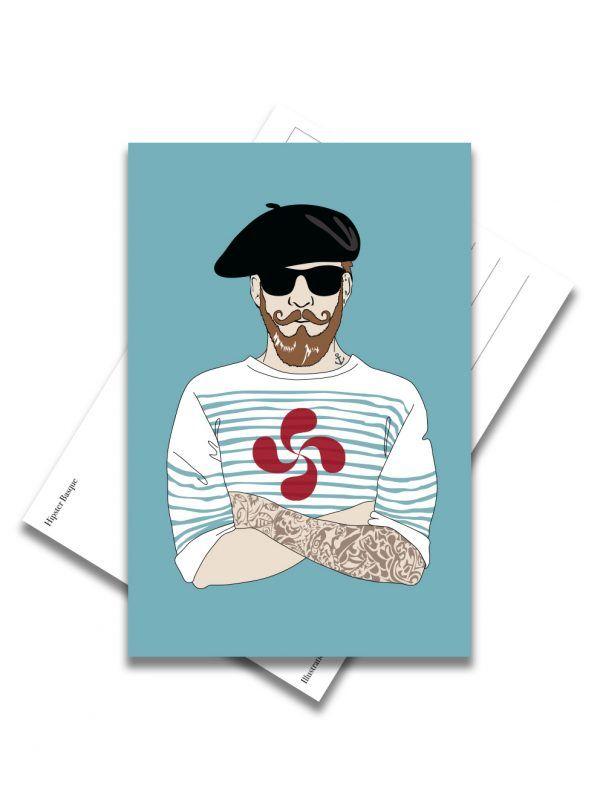 carte-postale-hipster-basque-les-reves-de-caro