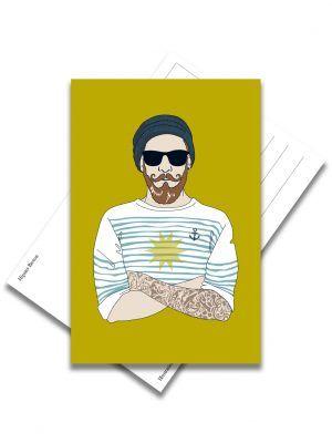 carte-postale-hipster-breton-les-reves-de-caro