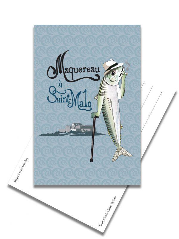carte-postale-maquereau-saint-malo-les-reves-de-caro