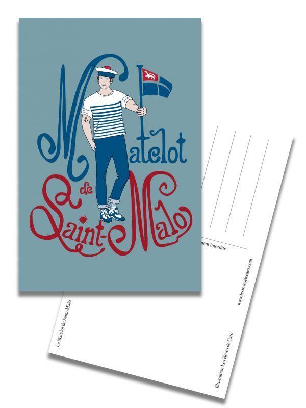 carte-postale-matelot-saint-malo-les-reves-de-caro