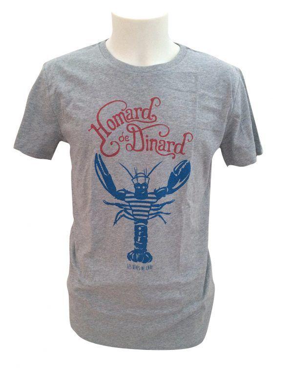 tshirt-homme-homard-dinard-gris-reves-de-caro