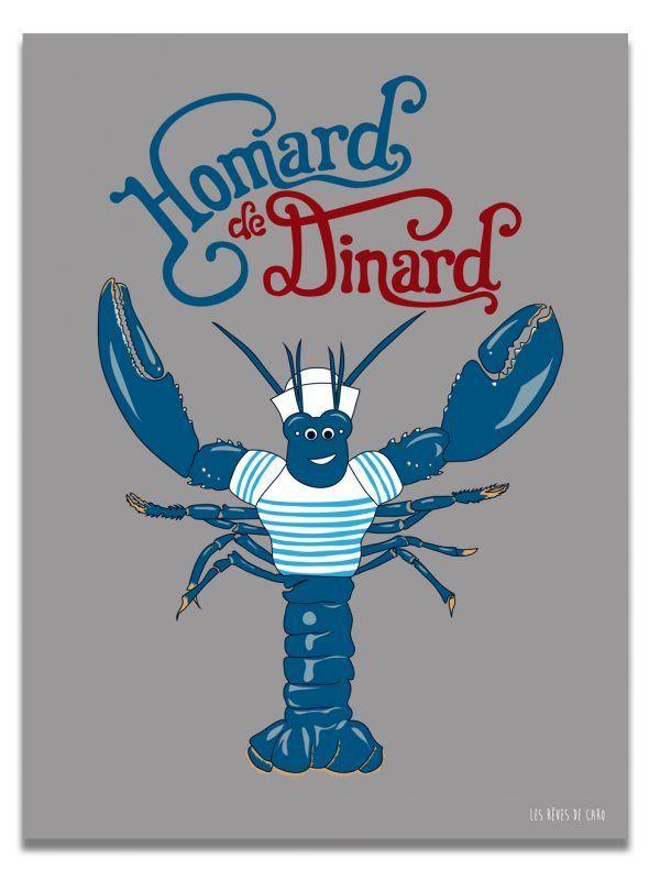 affiche-homard-dinard-les-reves-de-caro