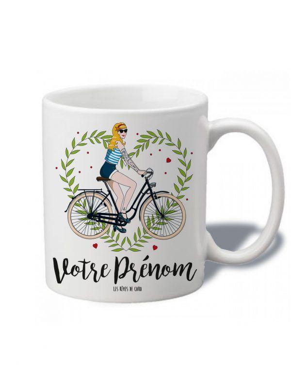 tasse-personnaliser-nana-bike-blonde-reves-de-caro