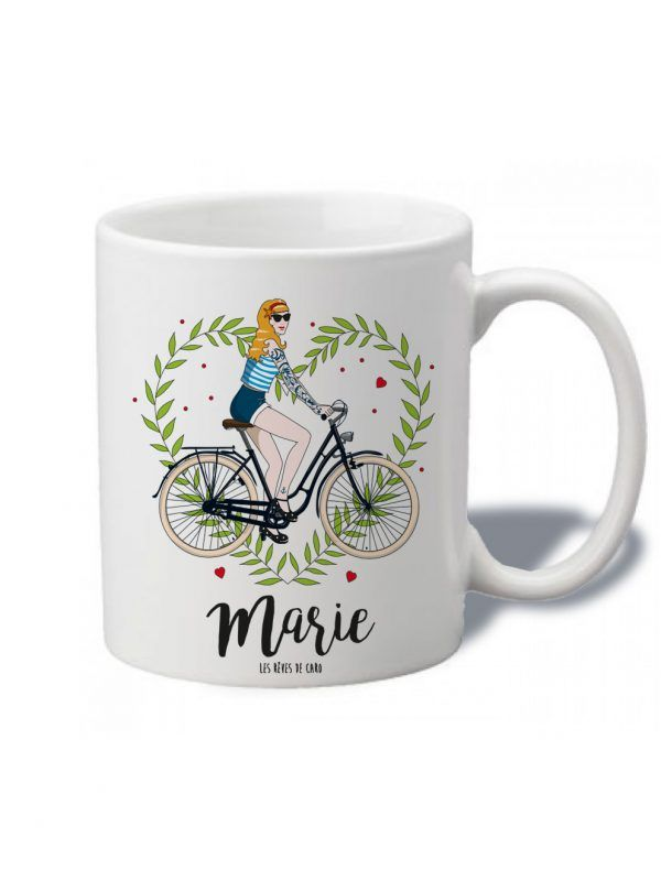 tasse-personnaliser-nana-bike-blonde-reves-de-caro