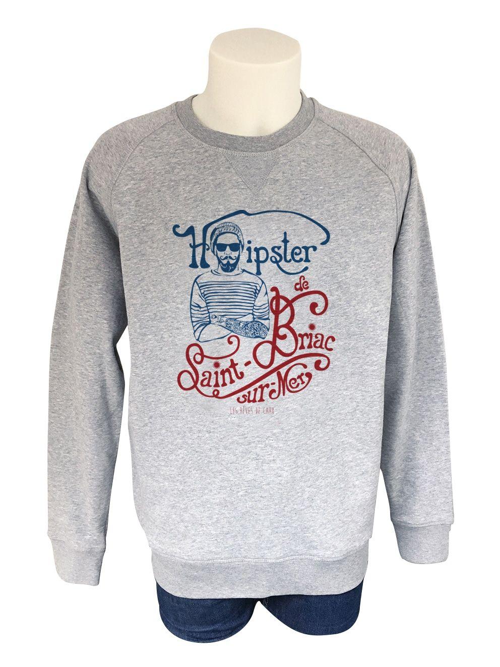 Rêves Homme Briac Sur Les Saint Shirt Hipster Caro Sweat Mer