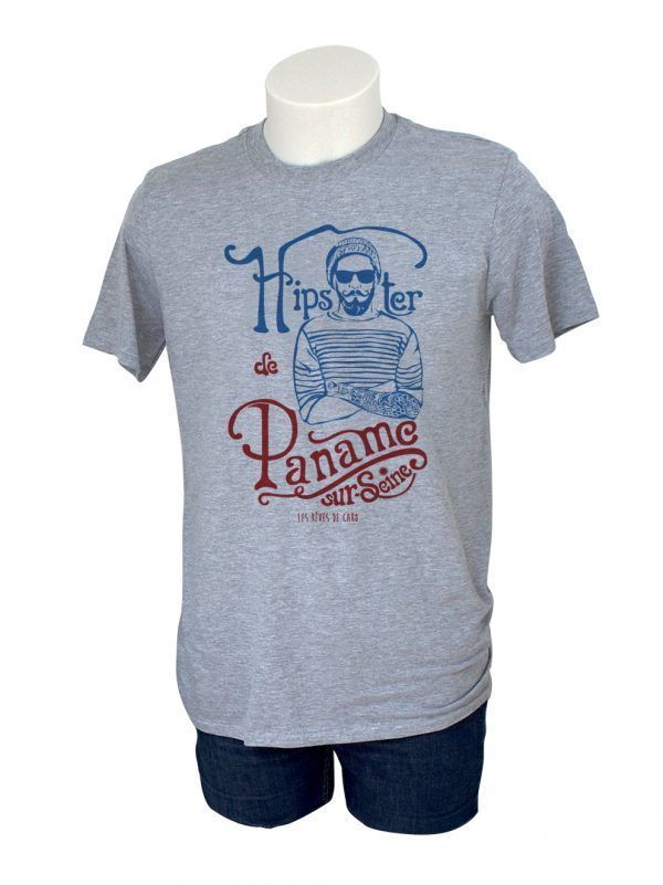 tshirt-homme-hipster-paname-gris-reves-de-caro