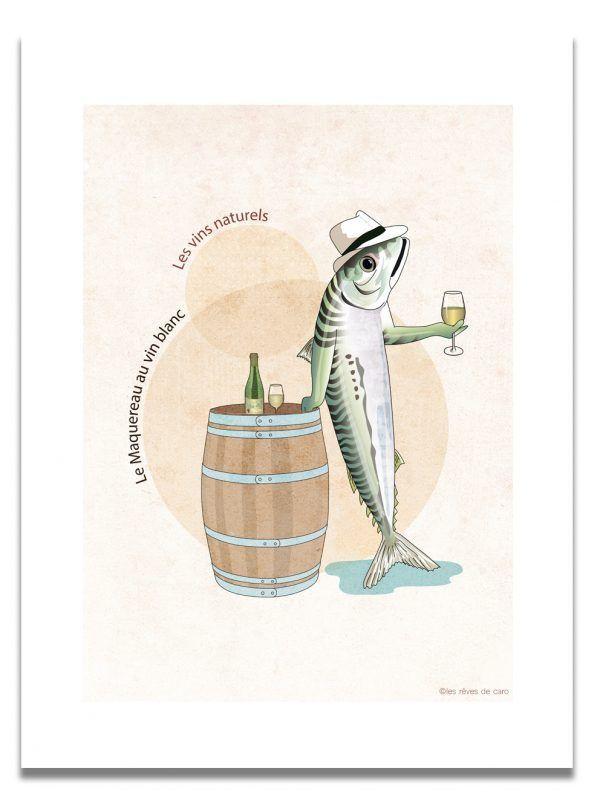 affiche-maquereau-vin-naturel-les-reves-de-caro
