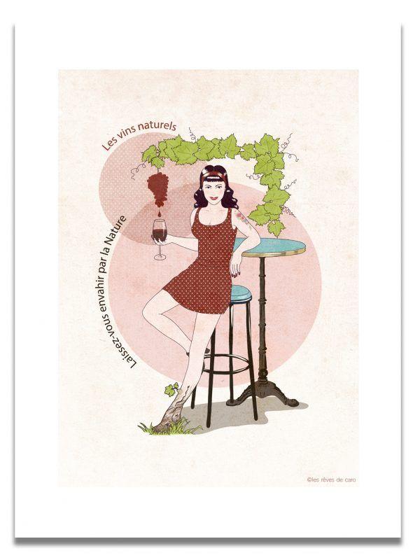affiche-pinup-vin-naturel-les-reves-de-caro