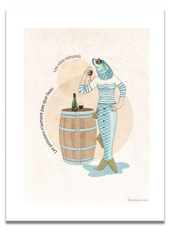 affiche-sardine-vin-naturel-les-reves-de-caro