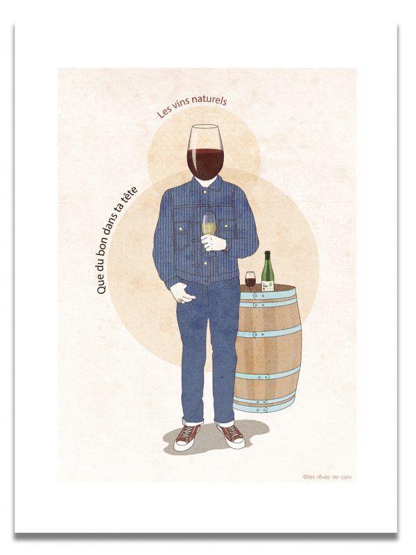 affiche-Homme-vin-naturel-les-reves-de-caro