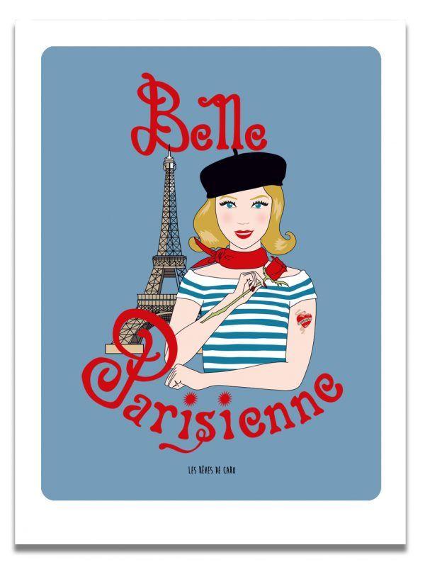 affiche-belle-parisienne-blonde-les-reves-de-caro