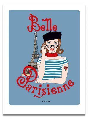 affiche-belle-parisienne-brune-les-reves-de-caro