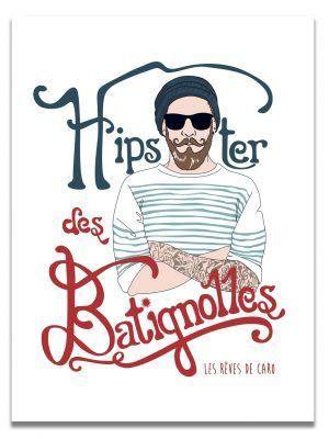 affiche-paris-hipster-batignolles-les-reves-de-caro