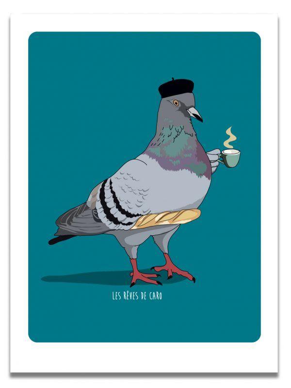affiche-pigeon-cafe-les-reves-de-caro