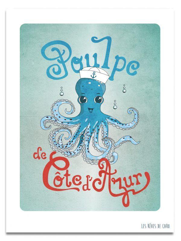 affiche-poulpe-3-cote-azur-les-reves-de-caro
