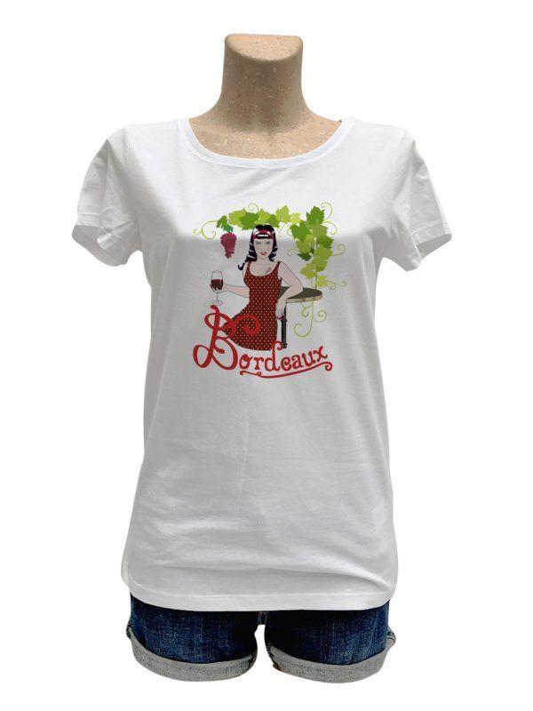 tshirt-femme-bordeaux-pinup-reves-de-caro