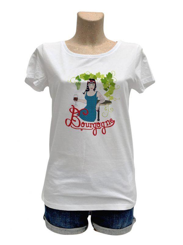 tshirt-femme-bourgogne-pinup-reves-de-caro