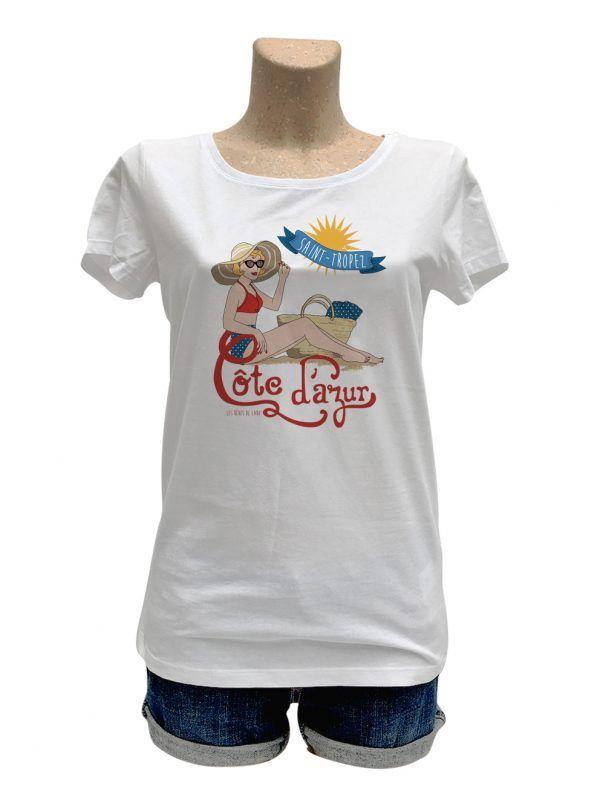 tshirt-femme-cote-azur-personnaliser-reves-de-caro