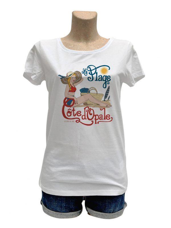 tshirt-femme-nord-cote-opale-plage-reves-de-caro