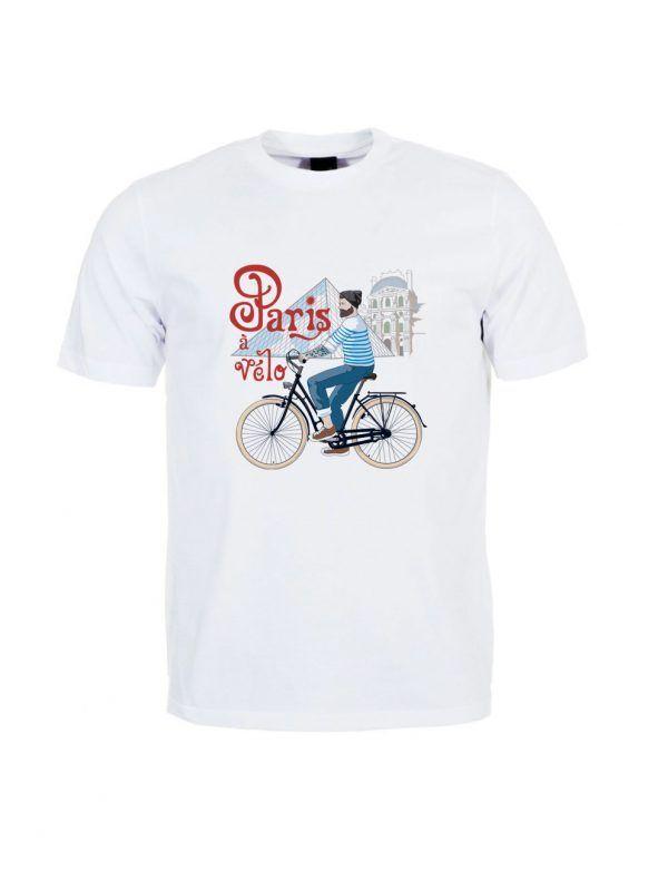 tshirt-homme-paris-velo-louvre-reves-de-caro