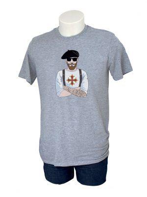 tshirt-homme-toulouse-croix-occitane-gris-reves-de-caro