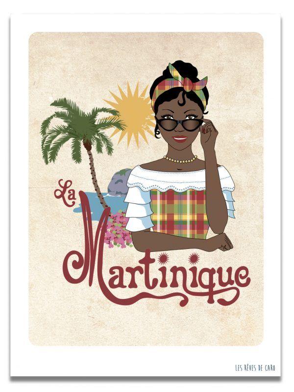 affiche-martinique-femme-les-reves-de-caro