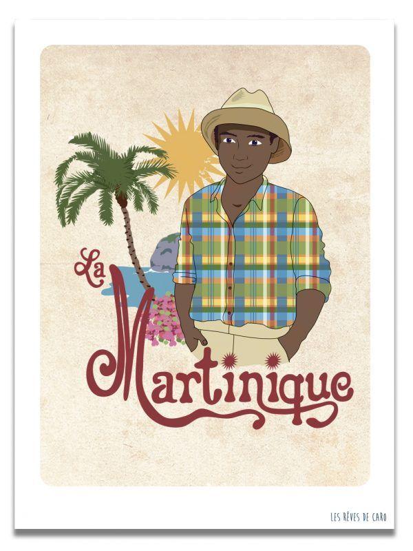 affiche-martinique-homme-les-reves-de-caro