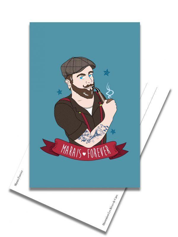carte-postale-marais-forever-homme-les-reves-de-caro