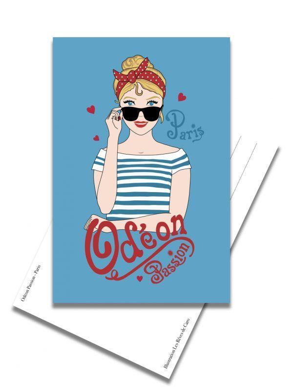carte-postale-odeon-passion-paris-les-reves-de-caro