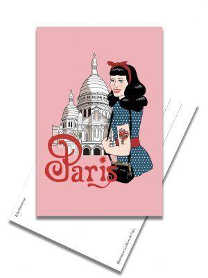 carte-postale-pinup-montmartre-les-reves-de-caro