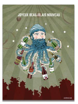affiche-beaujolais-nouveau-poulpe-les-reves-de-caro