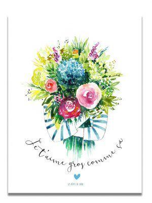 affiche-aquarelle-bouquet-je-taime-les-reves-de-caro