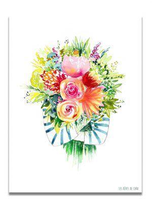 affiche-aquarelle-gros-bouquet-les-reves-de-caro