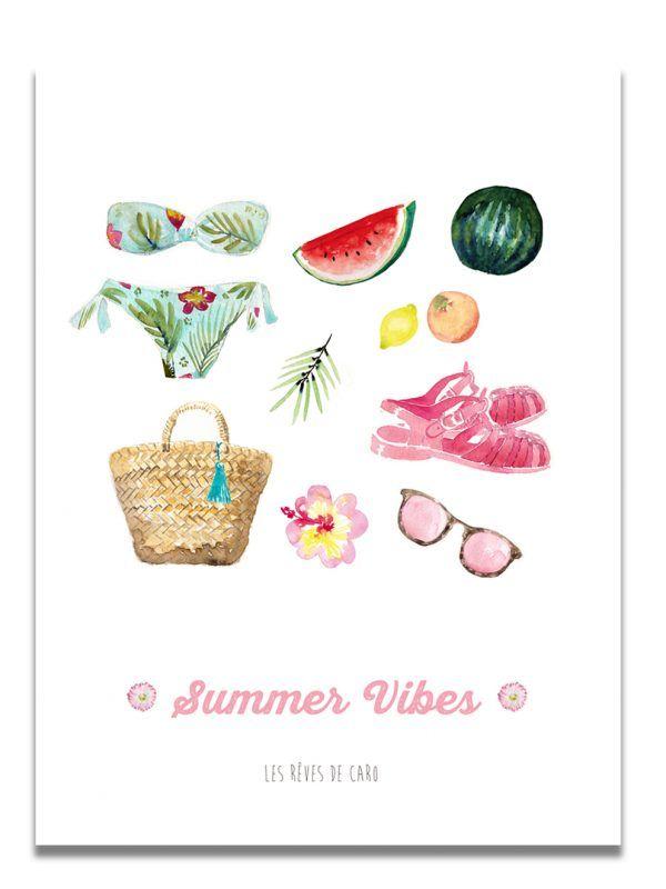 affiche-aquarelle-summer-vibes-les-reves-de-caro