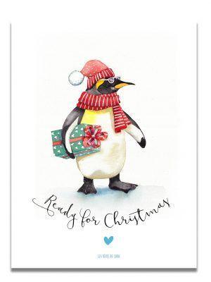 affiche-aquarelle-pingouin-christmas-les-reves-de-caro