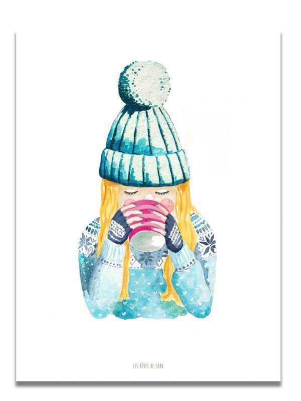 affiche-aquarelle-winter-mood-les-reves-de-caro
