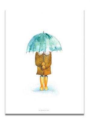 affiche-aquarelle-jour-de-pluie-les-reves-de-caro