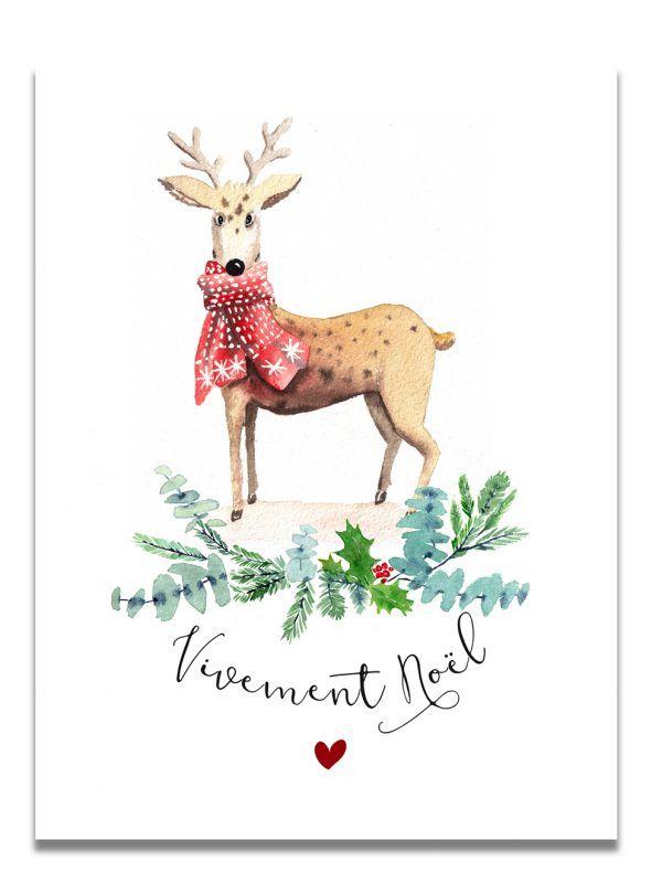 affiche-aquarelle-noel-renne-les-reves-de-caro