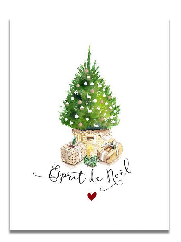affiche-aquarelle-noel-sapin-les-reves-de-caro