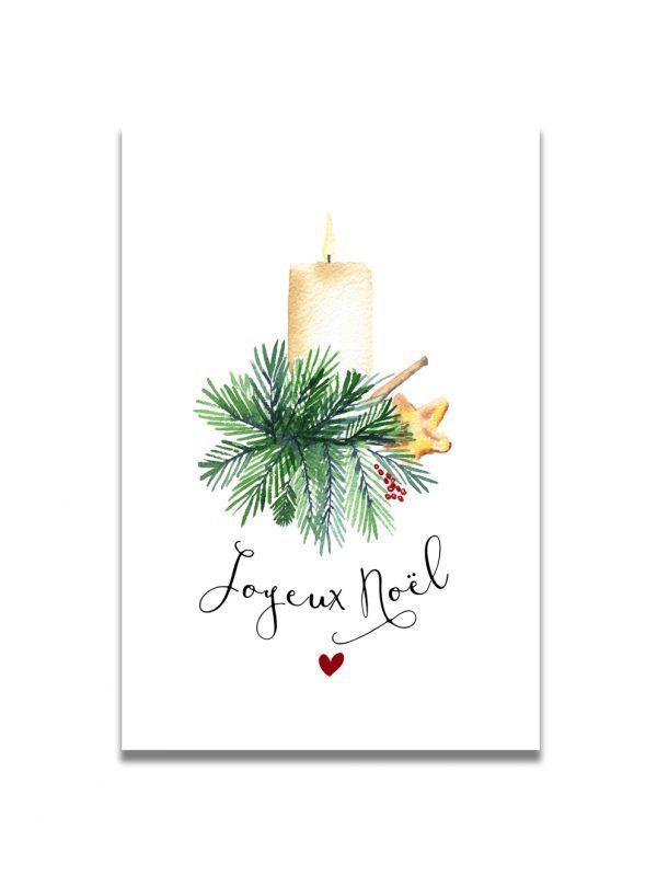 cartes-postales-noel-bougie-les-reves-de-caro