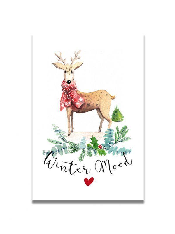 cartes-postales-noel-renne-2-les-reves-de-caro