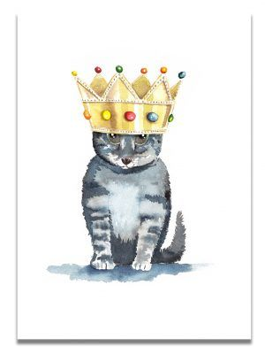 affiche-aquarelle-chat-roi-les-reves-de-caro