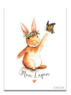 affiche-aquarelle-mon-lapin-les-reves-de-caro