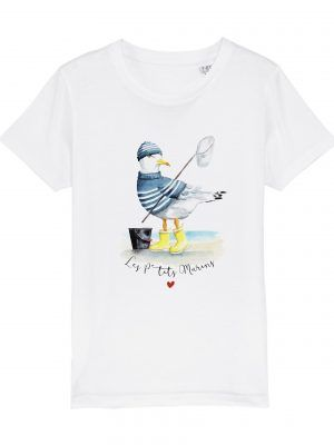 tshirt-enfant-blanc-goeland-ptits-marins-reves-de-caro