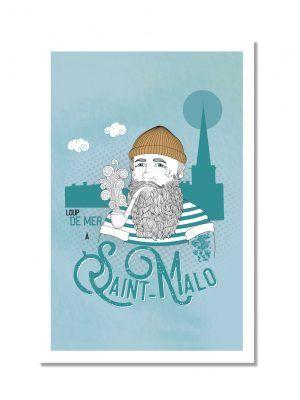 carte-postale-loup-de-mer-saint-malo-les-reves-de-caro