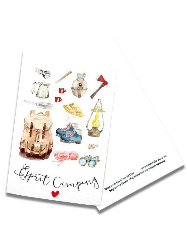 cartes-postales-accessoires-camping-rectoverso-les-reves-de-caro
