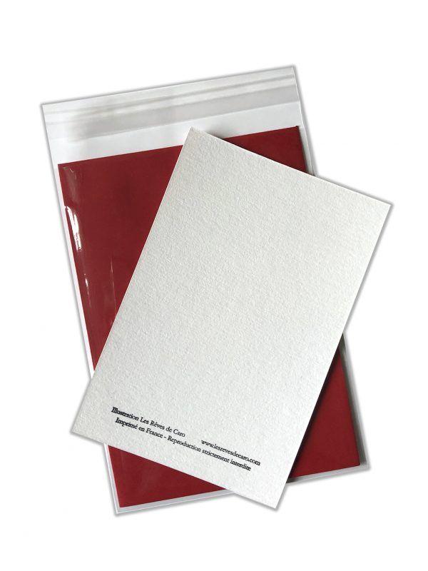 cartes-postales-aquarelle-enveloppe-rouge-les-reves-de-caro